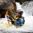 Kayak river racing — Stockfoto