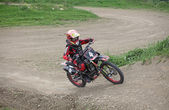 Motocross racer — Stock Photo