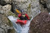 Kayak river racing — Stock Photo