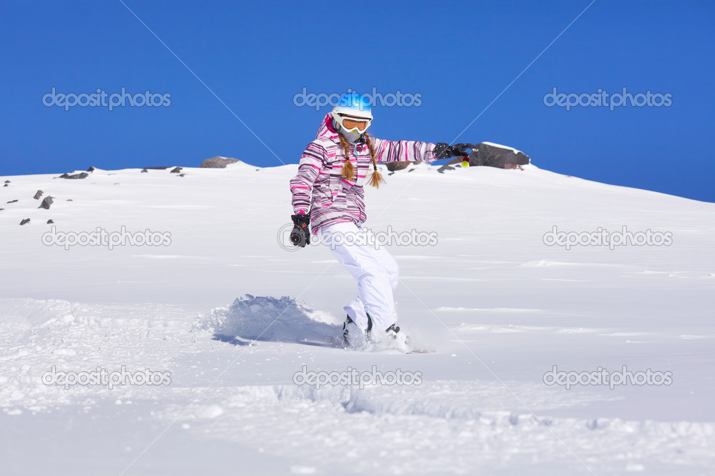 Девушка сноубордист фото
