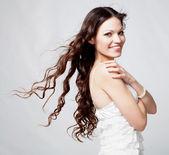 Beautiful brunette girl portrait — Stock Photo
