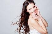 Beautiful brunette girl portrait — Zdjęcie stockowe