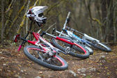 Downhill rider — Stock Photo