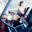 Girls in fitness center - Stock Photo