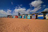 Beach with Colourful Boat Houses — Stock Photo