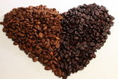 Coffee Beans forming Heart Shape — Stock Photo