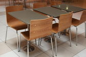 Office or Food Court Chairs and Tables — Stock Photo