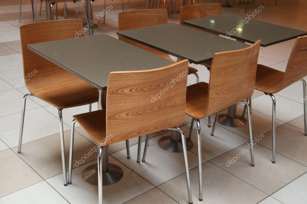 Mesas y sillas de oficina o alimentos corte fotos de for Mesas y sillas para oficina