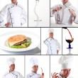 Chef Portrait Collage — Stock Photo
