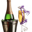 Royalty-Free Stock Photo: Champagne and new year