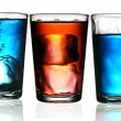 Foto Stock: Three cocktail glass