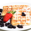 Stock Photo: Breakfast waffles