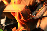 Strong flame — Stock Photo