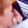 Family moments - mother and baby have a fun — Stock Photo
