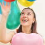 Girl and balloons — Stock Photo #8884063
