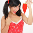Beauty girl with red pepper — Stock Photo #8884101