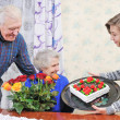 Birthday grandmother — Stock Photo