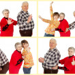 Stock Photo: Happy grandparents and granddaughter