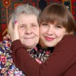 Grandmother and granddaughter — Stock Photo #8885025