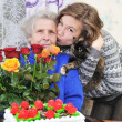 Girl with elderly woman — Stock Photo #8885037