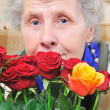 Dreamy elderly woman — Stock Photo #8885602