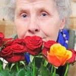 Dreamy elderly woman — Stock Photo #8885602