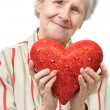 Mother with heart - Stockfoto