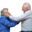 Happy grandparents play the fool — Stock Photo #8886008