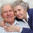 Portrait of happy smiling old couple — Stock Photo #8886057