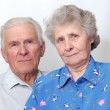 Happy old couple looking to the camera — Stock Photo