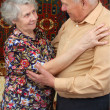 Dancing senior couple — 图库照片