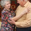 Dancing senior couple — Stock Photo