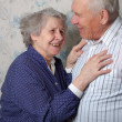Stock Photo: Happy old couple laugh
