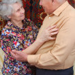 Dancing senior couple — Stock Photo #8886155