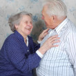 Happy old couple laugh — Stock Photo