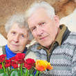 Pair elderly — Stock Photo