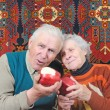 Two happy senior — Stock Photo