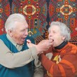 Elderly man and elderly woman - Stock Photo