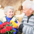 Stock Photo: Elderly mwith elderly woman