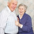 Happy senior couple laugh — Stock Photo