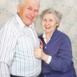 Stock Photo: Happy senior couple laugh