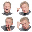 Four of expressive faces of the emotional person — Stock Photo #8886973