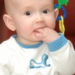 Little boy put his hand in mouth — Stock Photo #8887137
