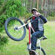 Man to get on a bicycle — Stock Photo #8887839