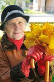 Happy old woman — Stock Photo