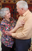 Dancing senior couple — Stockfoto