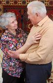 Dancing senior couple — Stock Photo