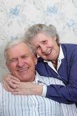 Gelukkige oude paar — Stockfoto