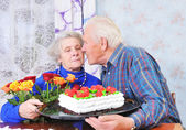 Elderly couple — Foto de Stock