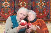 Two happy senior — Stock Photo